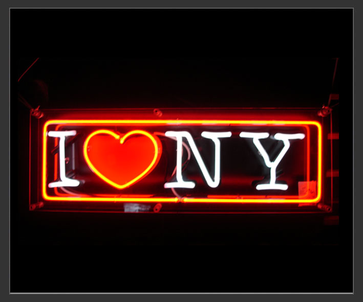 Electro Signs Sign Hire I Love Ny Neon Sign 3ft X 1 Ft